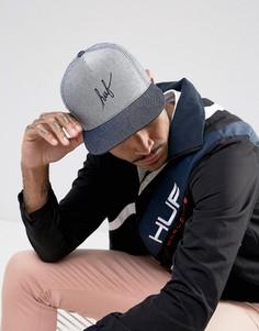 Бейсболка с логотипом HUF - Темно-синий