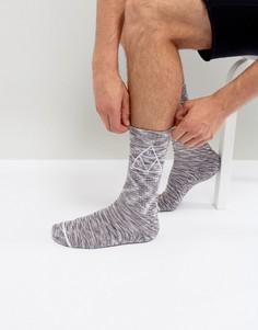 Меланжевые носки с треугольным логотипом HUF - Розовый