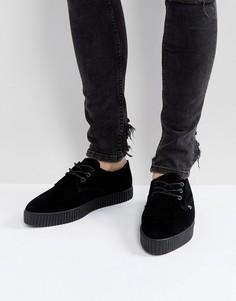 Замшевые кроссовки-криперы T.U.K - Черный TUK
