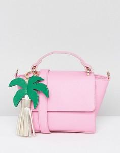 Компактная сумка через плечо с подвеской Skinnydip - Розовый