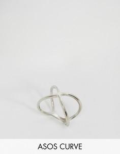 Кольцо ASOS CURVE - Серебряный