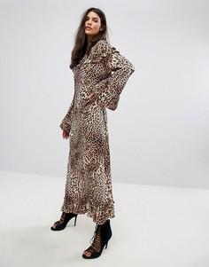 Платье с леопардовым принтом Gestuz - Мульти