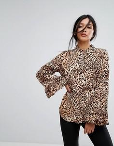 Блузка с леопардовым принтом Gestuz - Мульти