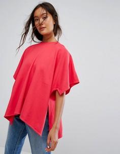Оверсайз-футболка Weekday - Розовый