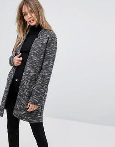 Пальто с начесом New Look - Серый