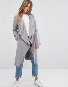 Куртка с драпировкой New Look - Серый