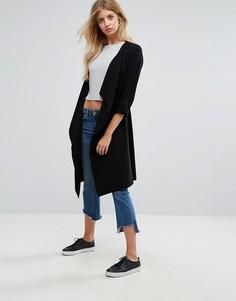 Куртка с драпировкой New Look - Черный