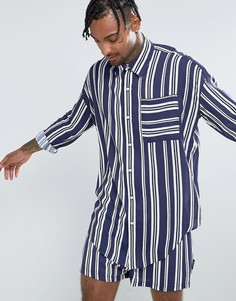 Свободная рубашка в темно-синюю полоску Jaded London - Темно-синий