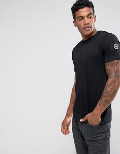 Черная футболка с нашивкой на рукаве Hype - Черный