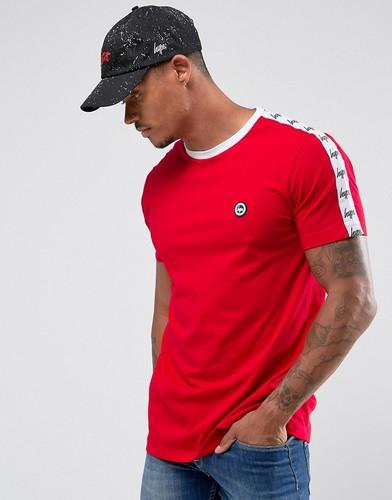 Красная футболка с отделкой лентой Hype - Красный