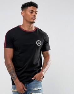 Черная футболка с красными полосками Hype - Черный