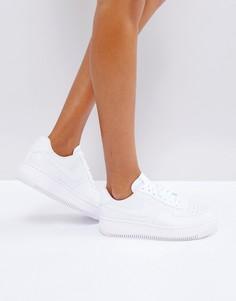 Белые кроссовки на платформе Nike Air Force Upstep - Белый
