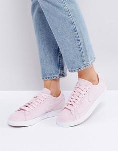 Розовые низкие замшевые кроссовки Nike Blazer - Розовый