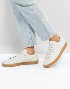 Бежевые низкие замшевые кроссовки с каучуковой подошвой Nike Blazer - Бежевый