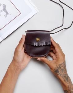 Кожаный кошелек для монет Dr Martens - Коричневый