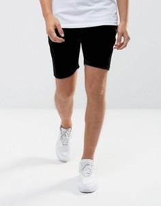 Черные велюровые шорты скинни Intense - Черный