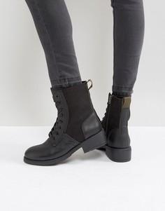 Ботинки на шнуровке в стиле милитари G-Star - Черный