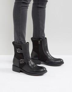 Ботинки в стиле милитари с пряжками G-Star - Черный