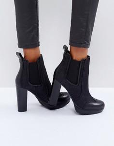 Джинсовые ботинки челси на каблуке G-Star - Черный