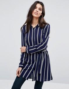 Длинная рубашка в полоску Unique 21 - Темно-синий