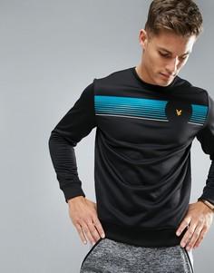 Черный джемпер с логотипом Lyle & Scott Fitness Johnson - Черный