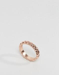 Плетеное кольцо на большой палец ASOS - Медный