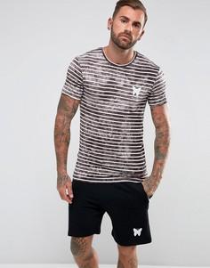 Обтягивающая футболка в светло-серую полоску Good For Nothing - Светло-серый