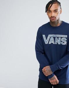Свитшот с логотипом Vans V00YX0L2F - Темно-синий