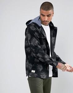 Пальто с двумя карманами и пальмовым принтом VansV00S5XM5S - Черный
