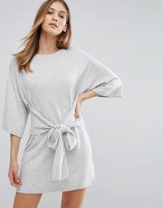 Платье-рубашка оверсайз с завязками Ted Baker - Серый