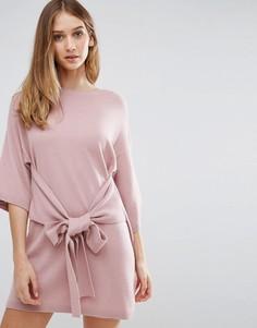 Платье-рубашка оверсайз с завязками Ted Baker - Розовый