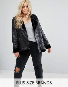 Байкерская куртка с подкладкой из искусственной цигейки Alice & You - Черный