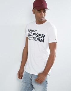 Белая футболка с логотипом Tommy Hilfiger Denim - Белый
