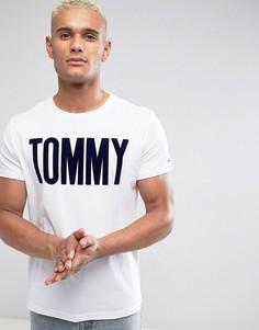 Белая футболка с флоковым принтом Tommy Tommy Hilfiger Denim - Белый
