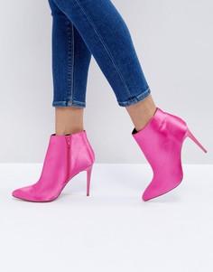 Атласные туфли на каблуке New Look - Розовый