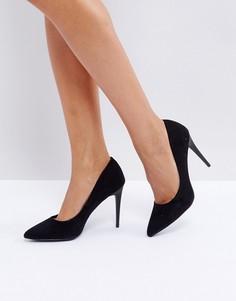 Туфли-лодочки на высоком каблуке из искусственной замши New Look - Черный
