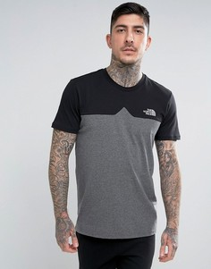 Черная футболка колор блок с логотипом на груди The North Face Westpeak - Черный