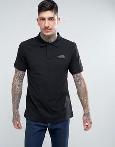 Черная футболка-поло из пике с логотипом на груди The North Face - Черный