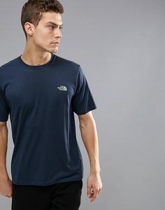 Темно-синяя меланжевая футболка для бега The North Face Mountain Athletics Reaxion - Темно-синий