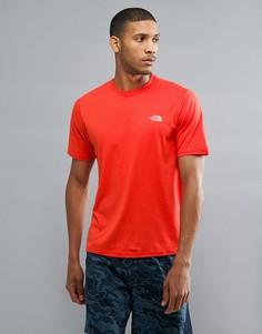 Оранжевая меланжевая футболка The North Face Mountain Athletics Reaxion Amp Running - Оранжевый