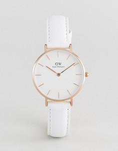 Часы с белым кожаным ремешком Daniel Wellington DW00100189 32мм - Белый