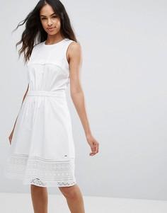 Трапециевидное платье Tommy Hilfiger Aspen - Белый