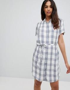Платье-рубашка в клетку Tommy Hilfiger Denim - Темно-синий