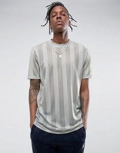 Удлиненная сетчатая футболка мятного цвета ASOS - Зеленый