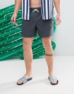 Черные шорты для плавания Abercrombie & Fitch 5 - Черный