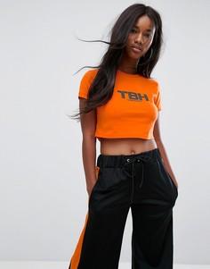 Укороченная футболка The Ragged Priest TBH - Оранжевый