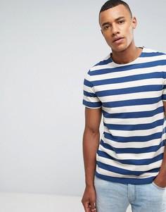 Свободная футболка из плотной ткани в полоску Celio - Бежевый