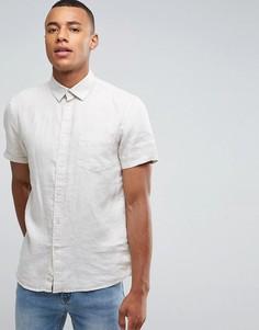 Рубашка с короткими рукавами из 100% льна Celio - Бежевый