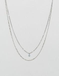 Двухрядное ожерелье-цепочка Pieces - Мульти