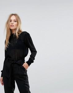 Блузка с вышивкой Y.A.S - Черный